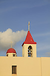 Israel, the bell tower of St. John Church in Acco