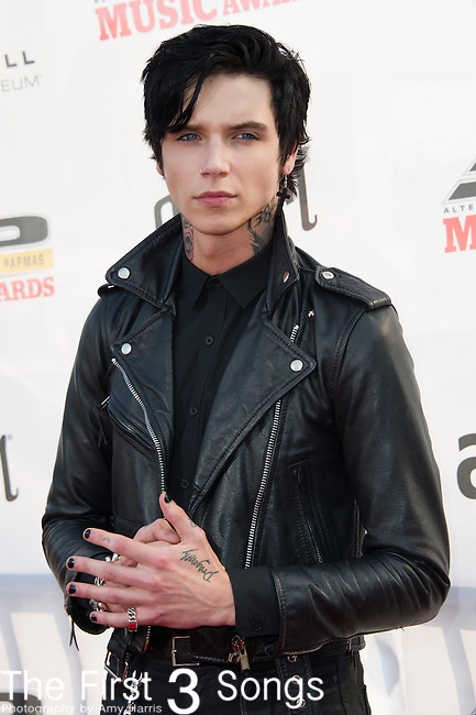 Andy Biersack of Black Veil Brides attends the 2014 AP Music Awards at the Rock And Roll Hall Of Fame and Museum at North Coast Harbor in Cleveland, Ohio.