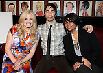 Megan Hilty, Justin Long & Raven-Symone.attending the Announcements for the 2012 Drama League Nominations held at Sardi's on 4/24/2012 in New York City.