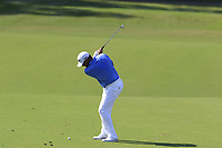Lee Westwood (ENG) plays his 2nd shot on the 14th hole during Thursday's Round 1 of the 2017 PGA Championship held at Quail Hollow Golf Club, Charlotte, North Carolina, USA. 10th August 2017.<br /> Picture: Eoin Clarke | Golffile<br /> <br /> <br /> All photos usage must carry mandatory copyright credit (&copy; Golffile | Eoin Clarke)
