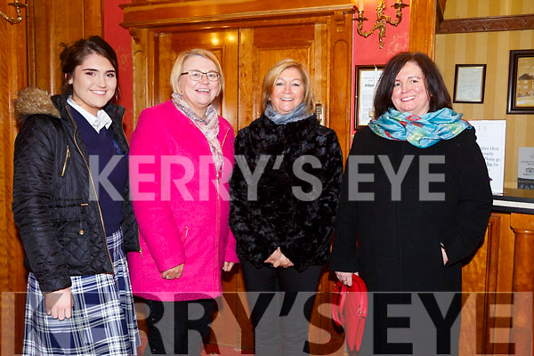 Enjoying the Presentation Secondary Castleisland School's 90th celebrations at River Island Hotel on Friday were Moya Sheehan, Eleanor Kerin, Eileen Lyons and Ann Lyons