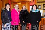 Enjoying the Presentation Secondary Castleisland School's 90th celebrations at River Island Hotel on Friday were Moya Sheehan, Eleanor Kerin, Eileen Lyons and Ann Lyons