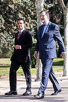 Mariano Rajoy recibe al presidente de México, Enrique Peña Nieto.