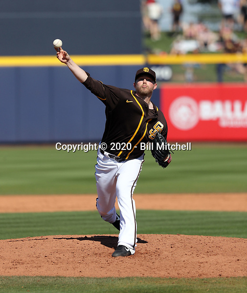 Pierce Johnson - San Diego Padres 2020 spring training (Bill Mitchell)
