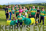 Bridget Richardson Beaufort with her sheep dressed in the Green and Gold  for the All Ireland final on Sunday included are Melissa Foley, Angela Doona, Holly Richardson, Donal Doona Ganselo Doona, Helen Foley, Mary Healy, Michael Foley, Noreen, Katie, Shane and Javier Doona