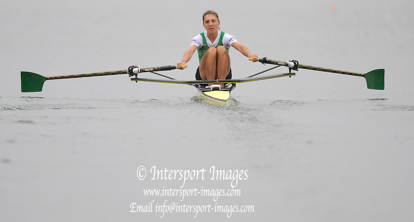 Ottensheim, AUSTRIA.   IRL LW1X, Sinead JENNINGS, moves away from the start in their morning heat, at the 2008 FISA Senior and Junior Rowing Championships,  Linz/Ottensheim. Tuesday,  22/07/2008.  [Mandatory Credit: Peter SPURRIER, Intersport Images] Rowing Course: Linz/ Ottensheim, Austria