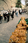 Israel, Jerusalem, bread for sale at the Old City
