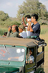 Earthwatchers Viewing Elephants, Minneriya National Park