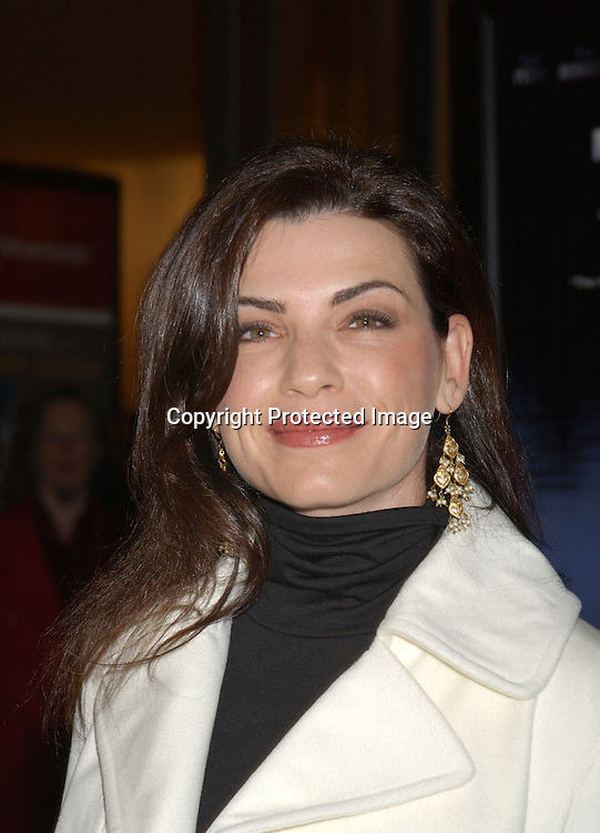 "..Juliana Margulies in Chaiken..arriving at the opening of the 41st New York Film Festival ..screening of "" Mystic River"" on October 3, 2003 in New York City. Photo By Robin Platzer, Twin Images"