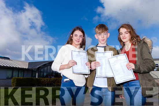 TRIPLE RESULTS: It was triple results for one family as triplets Kate, Darragh and Molly O'Keeffe from Tralee all received their Jr Cert results at Mercy Mounthawk Secondary Tralee on Wednesday morning.