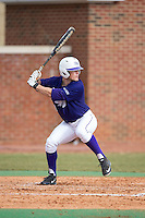 Carson Jackson (10) of the High Point Panthers at bat against the UNCG Spartans at Willard Stadium on February 14, 2015 in High Point, North Carolina.  The Panthers defeated the Spartans 12-2.  (Brian Westerholt/Four Seam Images)