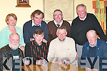 CARD GAME: Competing in the County Final of the 31 Card Drive in Darby OGills, Killarney, on Friday were, front row l-r: Tim Doolan, Killarney, Pat OKeeffe, Farranfore, David Herlihy, Spa, and Michael OSullivan, Kilgarvan. Back row l-r: Carmel Godfrey, Kilgarvan, Liam OConnor, Killarney, Connie OSullivan, Ballyhar, and Liam Chute, Killarney..