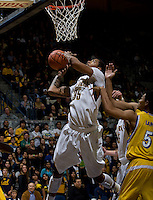Richard Solomon of California shoots the ball during the game against CSUB at Haas Pavilion in Berkeley, California on November 11th, 2012.  California defeated CSUB, 78-65.