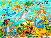Ingrid, CHILDREN, KINDER, NIÑOS, paintings+++++,USISNL04SM,#k#, EVERYDAY,mermaid,treasure