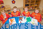 Helping to celebrate the first birthday of Ballyspillane Family Resource Centre were the 'wobblers' the youngest children who attend the Killarney childcare service. .L-R Michaela Dooley, Mark O'Brien, Steven Slabys and Jeremiah Sheehan.