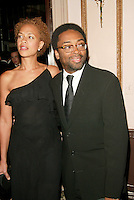Honoree Spike Lee with wife Tonya Lewis Lee at the 3rd Annual Directors Guild Of America Honors at the Waldorf-Astoria in New York City. June 9, 2002. <br />