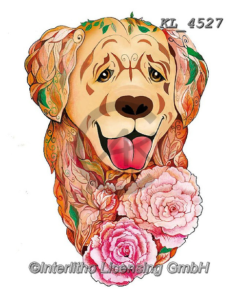 Interlitho-Alfredo, REALISTIC ANIMALS, REALISTISCHE TIERE, ANIMALES REALISTICOS, paintings+++++,retriever,KL4527,#a#, EVERYDAY ,dog,dogs