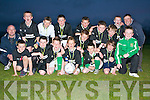 WINNERS: The Listowel team, who won the U12's Community Games Soccer at St Brendan's Park grounds on Friday. Pictured Aidan Quinn, Conor Nolan, Chris McKenna, Eddie Horigan (Jr), Shane Hughes, Mark Kennedy, Bill O'Flynn, Dara Hughes, Sean Hannon, Jackie Mulvihill, Christian Elbell, Callum Finnegan, Adam O'Rourke (capt), Paul Kearns and Joe Joe Grimes. Managers are Eddie Horigan (Sr) and Liam Kennedy.   Copyright Kerry's Eye 2008