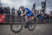 later winner Niki Terpstra (BEL/Quick Step Floors) up the 3th passage of the Oude Kwaremont.<br /> <br /> 102nd Ronde van Vlaanderen 2018<br /> 1day race: Antwerp &rsaquo; Oudenaarde - BEL (265k)
