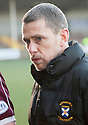 East Fife manager Gary Naysmith at the end of the game. <br /> <br /> <br /> 15/02/2014   jspa014_smuir_v_efife     <br /> Copyright  Pic : James Stewart   <br /> <br /> James Stewart Photography 19 Carronlea Drive, Falkirk. FK2 8DN      Vat Reg No. 607 6932 25   Tel:  +44 (0)7721 416997<br /> E-mail  :  jim@jspa.co.uk   If you require further information then contact Jim Stewart on any of the numbers above........