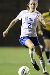 15 September 2011: Duke's Audrey Gibson. The Duke University Blue Devils defeated the College of Charleston Cougars 3-0 at Koskinen Stadium in Durham, North Carolina in an NCAA Division I Women's Soccer game.