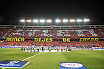 "Fans of Atletico de Madrid create a mosaic under the slogan ""Nunca dejes de creer"" during UEFA Champions League match. March 15,2016. (ALTERPHOTOS/Borja B.Hojas)"