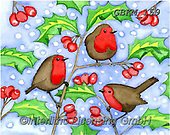 Kate, CHRISTMAS SYMBOLS, WEIHNACHTEN SYMBOLE, NAVIDAD SÍMBOLOS, paintings+++++Christmas page 48 1,GBKM159,#xx# ,red robin