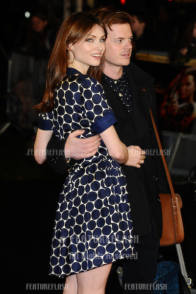 "Sophie Ellis Bextor and husband, Richard Jones arriving for the World Premiere of ""The Hunger Games: Catching Fire"" in Leicester Square, London. 11/11/2013 Picture by: Steve Vas / Featureflash"