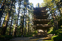 Gojunoto five-storied pagoda, Mt Haguro, Dewa Sanzan, Tsuruoka-city, Yamagata Prefecture, Japan, October 16, 2012.
