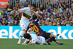 53e Trofeu Joan Gamper.<br /> FC Barcelona vs Club Atletico Boca Juniors: 3-0.<br /> Lucas Olaza, Sergi Roberto &amp; Nahitan Nandez.