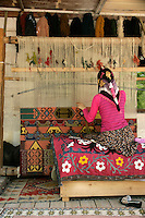 Kilim weaving in Goreme village, Turkey