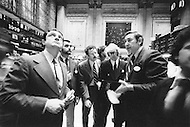 Manhattan, New York City, NY.  January 15th1976.<br /> Wall St. men from IBM.