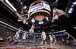 "LOS ANGELES, CA - MARCH 12:  ""One Day One Game"" DeAndre Jordan #6 of the Los Angeles Clippers dunks the ball against the Golden State Warriors during their NBA Game at the Staples Center  on March 12, 2014 in Los Angeles, California.  (Photo by Donald Miralle for ESPN the Magazine)"