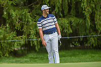 Jon Rahm (ESP) reacts to chipping in from off the green on 15    during 1st round of the World Golf Championships - Bridgestone Invitational, at the Firestone Country Club, Akron, Ohio. 8/2/2018.<br /> Picture: Golffile | Ken Murray<br /> <br /> <br /> All photo usage must carry mandatory copyright credit (© Golffile | Ken Murray)