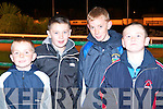 ENJOYING: Enjoying the South Kerry GAA Board Night at the Dogs at the Kingdom Greyhound Stadium on Saturday l-r: Cian O'Shea, Jack Daly, Mark O'Shea and Michael all from Caherciveen.   Copyright Kerry's Eye 2008