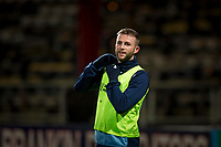 10th March 2020; Dens Park, Dundee, Scotland; Scottish Championship Football, Dundee FC versus Ayr United; Christie Elliott of Dundee during the warm up before the match