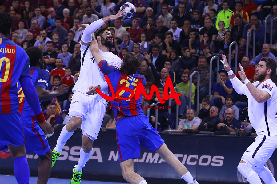 03.12.2016 Barcelona. EHF Champions League Group Phase. Picture show Nikola Karabatic in action during game between FC Barcelona Lassa against Paris Saint-Germain at Palau Blaugrana