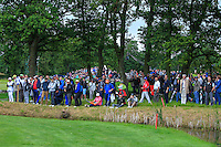 Part of the crowd waiting at the 13th green during Round 2 of the 100th Open de France, played at Le Golf National, Guyancourt, Paris, France. 01/07/2016. <br /> Picture: Thos Caffrey | Golffile<br /> <br /> All photos usage must carry mandatory copyright credit   (&copy; Golffile | Thos Caffrey)