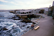 December 11, 1984 -Monterey Bay, California. View of the Monterey Bay Acquarium. The Monterey Bay Aquarium, located on Cannery Row of the Pacific Ocean in Monterey California, was founded in 1984 and holds thousands of plants and animals. The annual attendance of the aquarium is 1.8 million visitors.