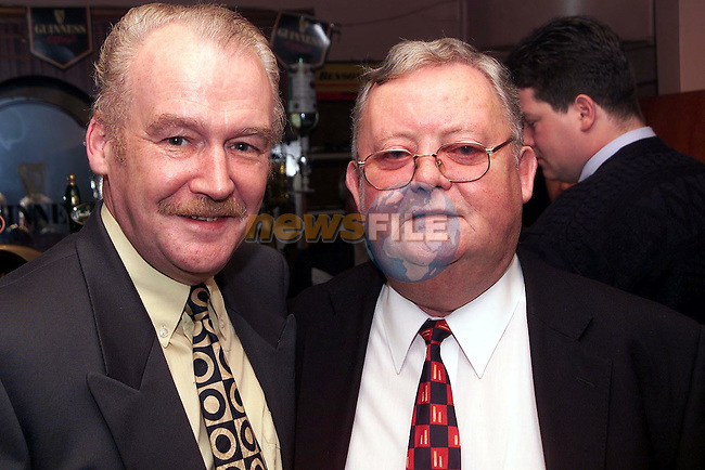 Tommy Moore and Michael Bell at the Labour Race Night in McHugh's..Picture Paul Mohan Newsfile