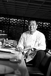 World-renowned Japanese chef Nobu Matsuhisa sits at the counter ofhis restaurant in central Tokyo, Japan. ROB GILHOOLY