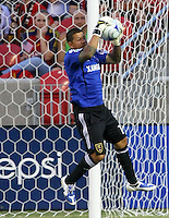 Nick Rimando in the San Jose Earthquakes @ Real Salt Lake 1-1 draw at Rio Tinto Stadium in Sandy, Utah on July 03, 2009