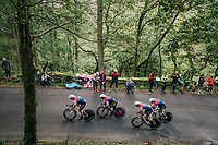 Team Wiggins<br /> <br /> Time Trial through the magnificent Lake District National Park in Cumbria<br /> <br /> Stage 5 (TTT): Cockermouth to Whinlatter Pass (14km)<br /> 15th Ovo Energy Tour of Britain 2018
