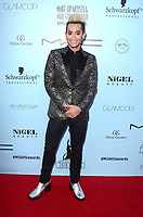 LOS ANGELES - FEB 24:  Frankie Grande at the 2018 Make-Up Artists and Hair Stylists Awards at the Novo Theater on February 24, 2018 in Los Angeles, CA