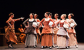 "14/02/2012. London, England. The Antonio Gades Company performs ""Fuenteovejuna"" during the Flamenco Festival 2012 at Sadler's Wells, London. Photo credit: Bettina Strenske"