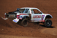 Apr 16, 2011; Surprise, AZ USA; LOORRS driver Carl Renezeder (17) during round 3 at Speedworld Off Road Park. Mandatory Credit: Mark J. Rebilas-.