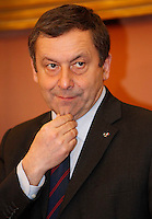 NAPOLI IL GOVERNO PRESENTA IL PROGETTO POMPEI .NELLA FOTO IL MINISTRO FRANCESCO PROFUMO.FOTO CIRO DE LUCA