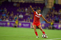 Orlando, FL - Tuesday August 08, 2017: Caprice Dydasco during a regular season National Women's Soccer League (NWSL) match between the Orlando Pride and the Washington Spirit at Orlando City Stadium.