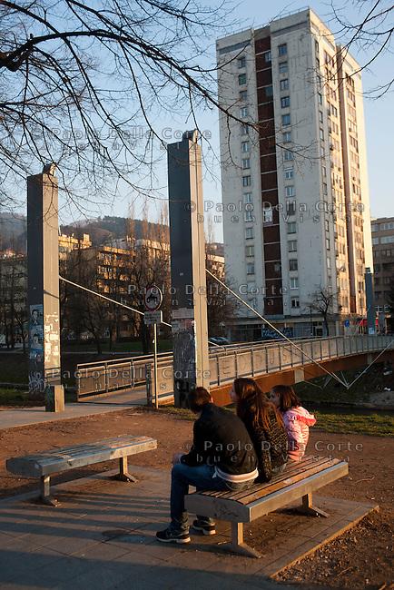 Sarajevo - Il Ponte progettato da Renzo Piano