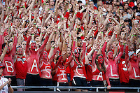 Ohio State students cheer on the Buckeyes during the second quarter of the NCAA football game against the Cincinnati Bearcats at Ohio Stadium in Columbus on Sept. 27, 2014. (Adam Cairns / The Columbus Dispatch)